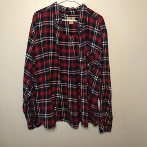 Casual oversized flannel